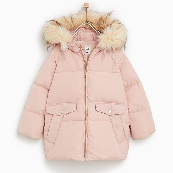 f7035928 Zara Jackets & Coats   Kids Girl Down Jacket Puffer Fur Size 7 8 ...